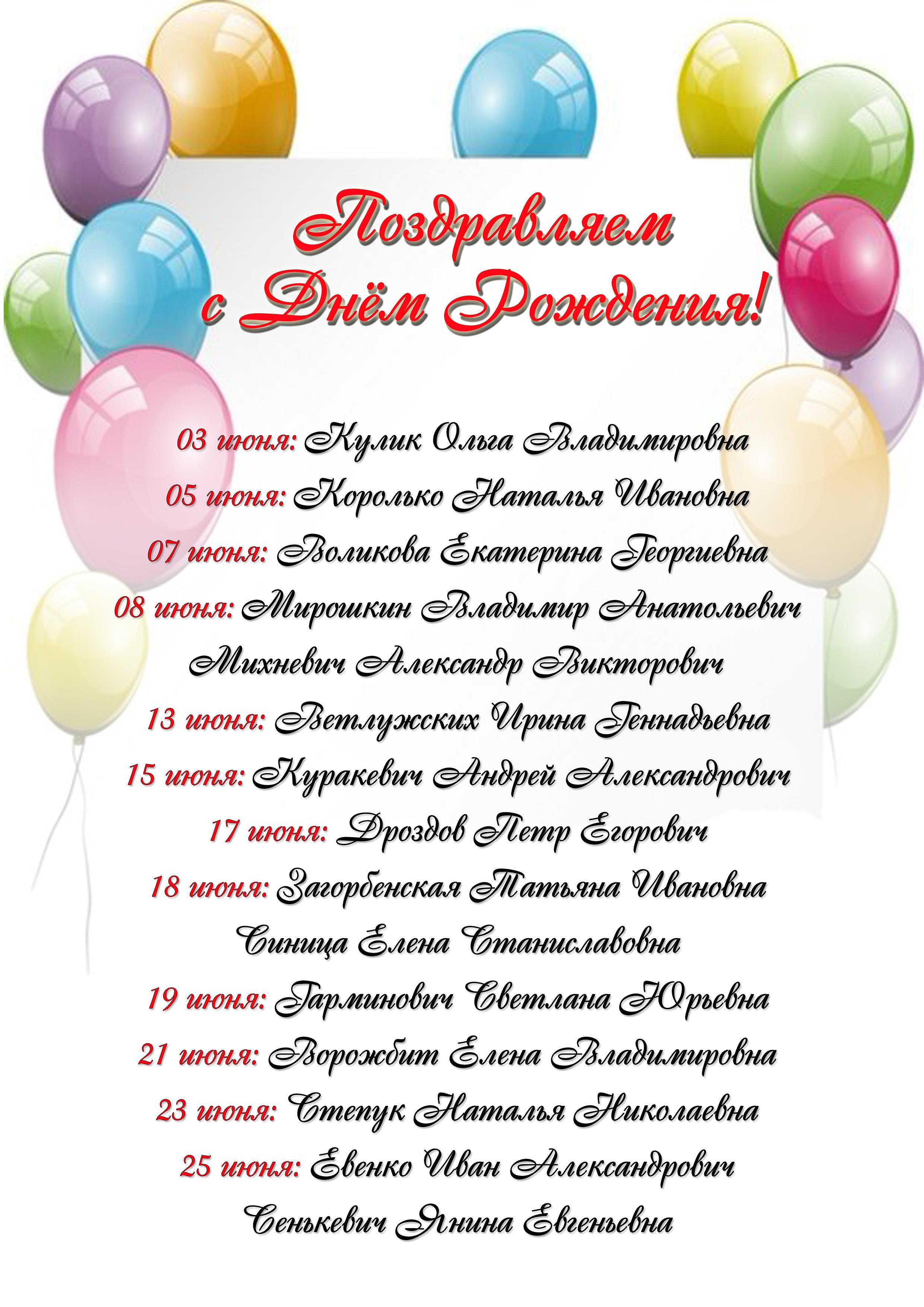 Поздравление рожденным в апреле 25